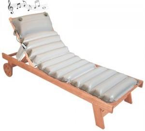 Il materassino per sedie a sdraio musicale