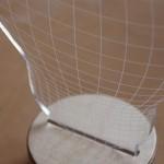 La lampada a led con effetto 3D
