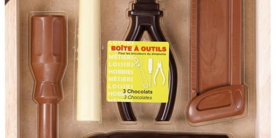 Gli attrezzi di cioccolato