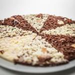 Una bella pizza di cioccolato