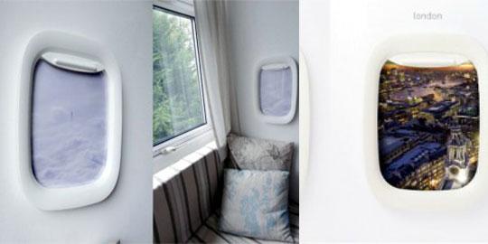 Il portafoto finestrino d'aereo
