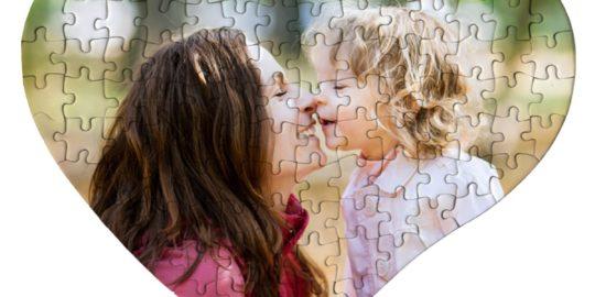 Un puzzle cuore personalizzabile