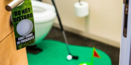 Un bel set da golf da bagno