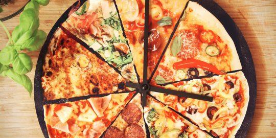L'orologio pizza