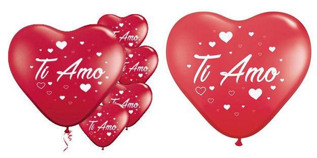 Ti Amo con un palloncino per San Valentino